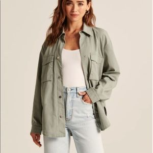 NEW w/tags⭐️Abercrombie & Fitch twill shirt jacket❤️Voted best Shacket 2021🏆